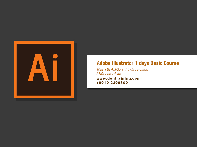 Adobe Illustrator Course Basic dehtraining double effect training house