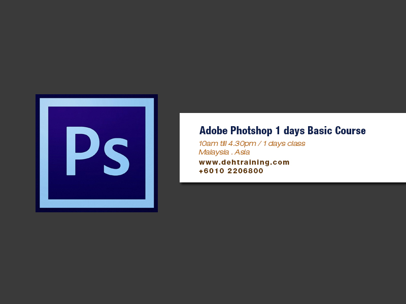 Adobe Photoshop Course Basic Double Effect Training House