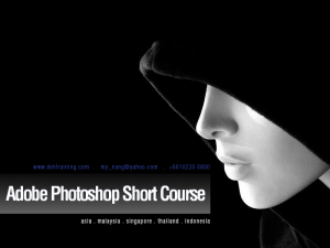 Adobe Photoshop Short Course Malaysia double effect training house