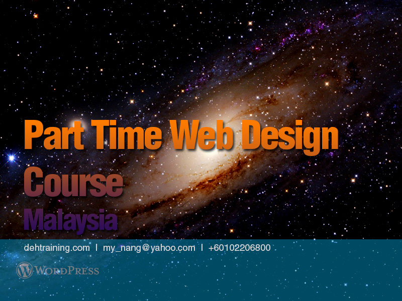 Part Time Web Design Course Malaysia