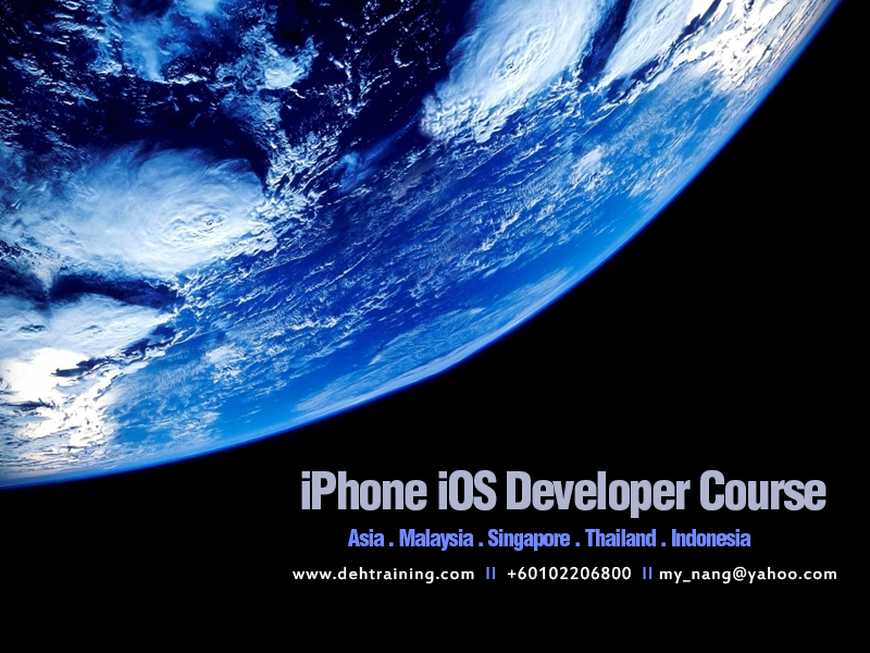 iPhone iOS Developer Course Malaysia Singapore Thailand Indonesia