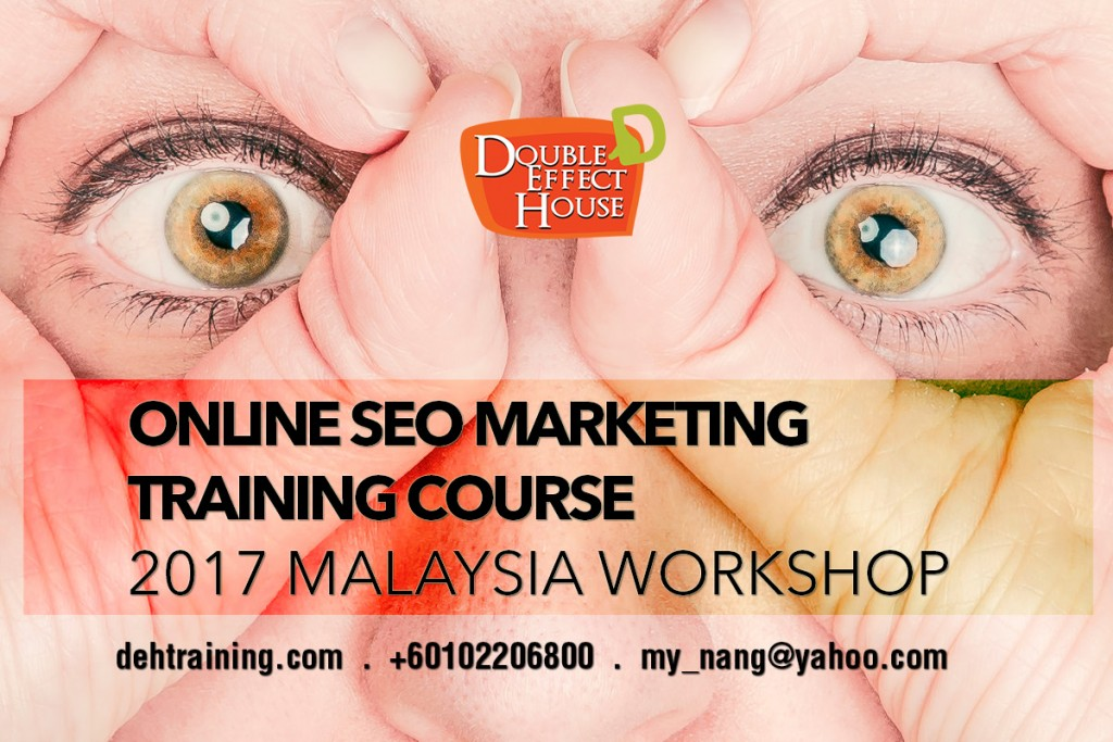 Complete SEO Search engine optimization Google Marketing Workshop 2017 Malaysia