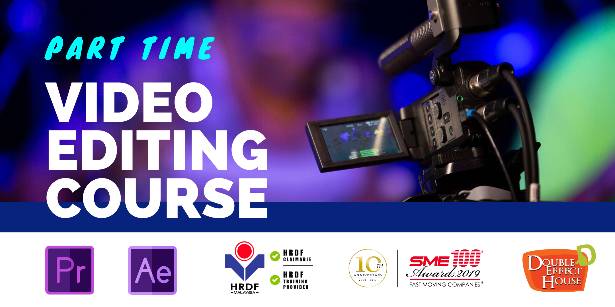 part time video editing short course